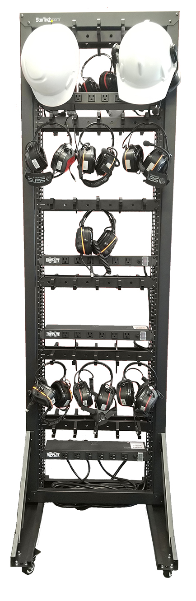 Sensear Charging Rack (front)