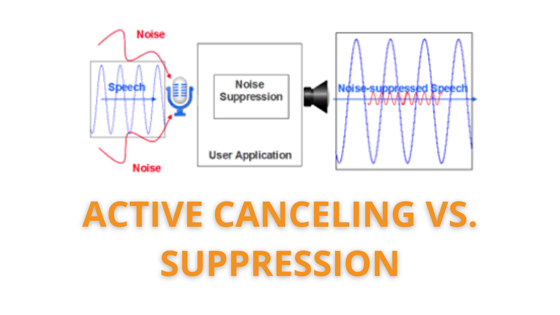 Active Noise-Canceling vs. Noise Suppression